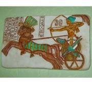 Продам барельеф Фараон на охоте