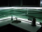 Изготовим фартук из стекла с подсветкой на заказ