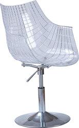Кресло Кристина (цвет черный,  прозрачный)