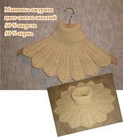 Манишка вместо шарфа,  ручная вязка