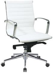 Офисное кресло Алабама,  средняя спинка,  цвет черный,  белый! Скидка 5% в декабре!