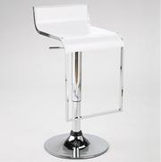 Барный стул Огус,  цвет белый/красный