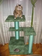 Домик для кошки (игровой комплекс на 3 этажа)