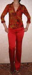 Блузка женская красная,  р.44-46