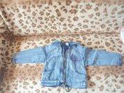 джинсовая куртка на девочку рост 104.