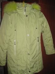Зимнее пальто для девочки 6-7лет