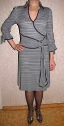 Платье трикотажное серебристое р.36