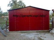 Новый металлический гараж (разборной)