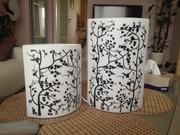 светильники 2 шт,  с ручной росписью