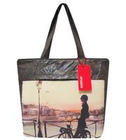 Стильная сумка с принтом девушка на велосипеде от ТМ Episode