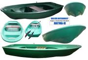 Лодка гребная стеклопластиковая Лагуна-М длина 3.5 метра.