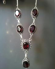 Ожерелье с кварц гранатами