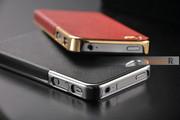 Элегантный золотистый чехол OYO Gold кожа PU с велюром для iPhone 4 4S