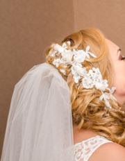 Свадебная заколка,  украшение ручной работы