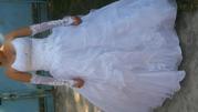 срочно продам красивое свадебное платье + перчатки!!! Запорожье