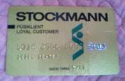 Пластиковая банковская карточка Stockmann.