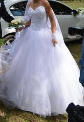 Продам б/у Запорожье Красивое свадебное платье в идеальном состоянии