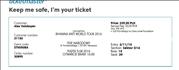 продам билет на концерт Рианны в Варшаве 5.08.2016. сектор D16