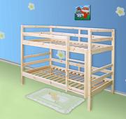 Двухъярусная кровать из сосны,  кровать из дерева