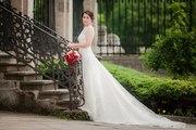 Свадебное платье,  длинный шлейф,  цвет айвори,  б/у Запорожье