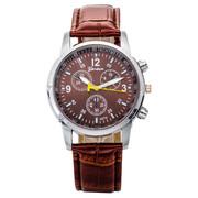 Мужские часы классические коричневые