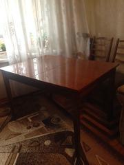 продаю обеденный раздвижной стол