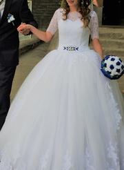 Продам свадебное платье+подарки к нему