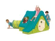 Детский игровой пластиковый домик с горкой и туннелем
