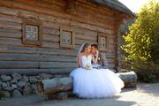 Свадебное платье с камнями Сваровски