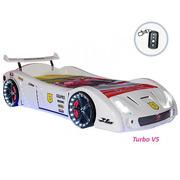 Кровать-машина V5 Turbo с подсветкой (белая)