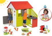 Домик детский Smoby с летней кухней 127cм + тележка с мороженным