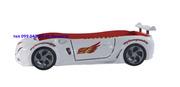 Кровать машина F1 белая