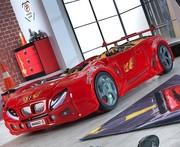 Детская Кровать машина F1 красного цвета