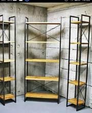 Изготовление и продажа стеллажей, витрин, этажерок в Запорожье.