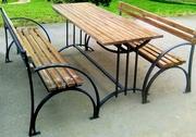 Скамейка садовая,  лавочка парковая,  кованная скамья  для сада,  дачи.