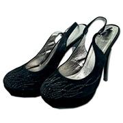 Туфли женские,  каблук 12 см,  замш,  закрытый носок