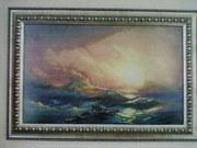 Репродукция картины Айвазовского 9 вал